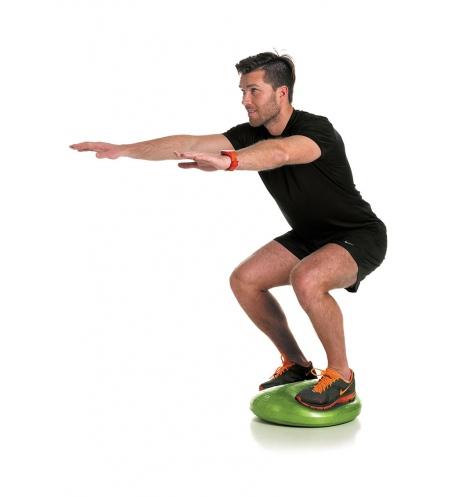 träning på balansplatta