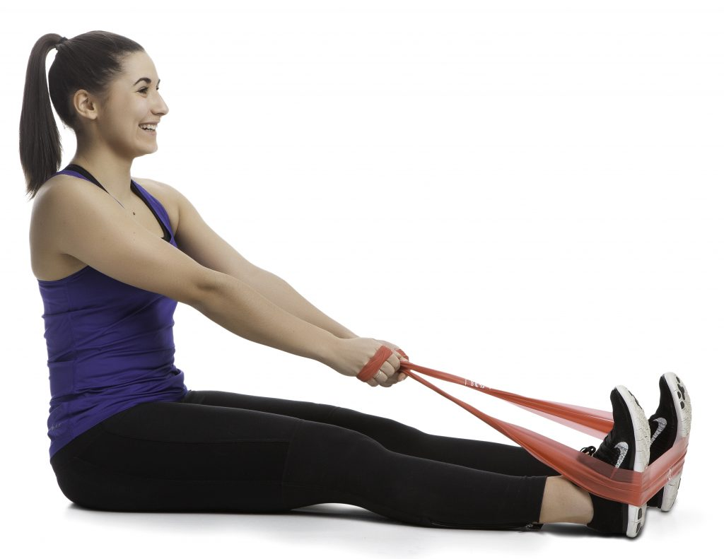 Träna hållning med gummiband